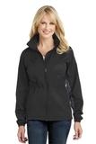 Women's Core Colorblock Wind Jacket Black with Battleship Grey Thumbnail