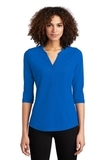 Women's OGIO Jewel Henley Electric Blue Thumbnail