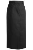 Misses Long Chino Skirt Black Thumbnail
