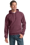 Pullover Hooded Sweatshirt Vintage Heather Maroon Thumbnail