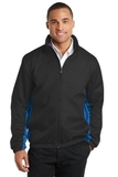 Core Colorblock Wind Jacket Black with Imperial Blue Thumbnail