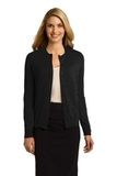 Women's Button Front Cardigan Black Thumbnail