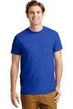 Ultra Blend 50/50 Cotton / Poly T-shirt With Pocket Royal Thumbnail