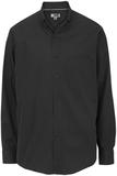 Men's Cotton Twill Rich Long Sleeve Twill Shirt Black Thumbnail
