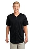 Posicharge Tough Mesh Full-button Jersey Black Thumbnail