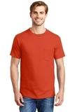 Beefy-t 100 Cotton T-shirt With Pocket Orange Thumbnail