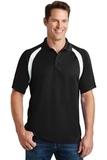 Dry Zone Colorblock Raglan Polo Shirt Black with White Thumbnail