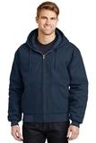 Duck Cloth Hooded Work Jacket Navy Thumbnail