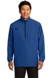 Nike Golf 1/2-zip Wind Shirt Gym Blue with Black Thumbnail