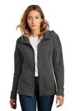 Women's Perfect Weight Fleece Drop Shoulder Full-Zip Hoodie Charcoal Thumbnail