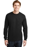 Dryblend 50 Cotton/50 Dryblend Poly Long Sleeve T-shirt Black Thumbnail