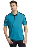OGIO Trax Moisture Wicking Polo Voltage Blue with Blacktop and Silver Grey Thumbnail