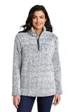 Ladies Cozy 1/4-Zip Fleece Navy Heather Thumbnail