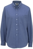 Women's Dress Button Down Oxford LS French Blue Thumbnail