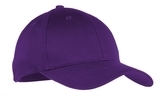 Youth 6-panel Twill Cap Purple Thumbnail