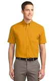 Short Sleeve Easy Care Shirt Athletic Gold with Light Stone Thumbnail