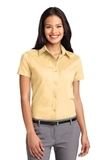 Women's Short Sleeve Easy Care Shirt Yellow Thumbnail