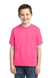 Youth 50/50 Cotton / Poly T-shirt Neon Pink Thumbnail