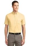 Tall Short Sleeve Easy Care Shirt Yellow Thumbnail