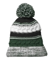 Pom Pom Team Beanie Forest Green with Black and White Thumbnail