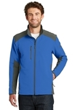 The North Face Tech Stretch Soft Shell Jacket Monster Blue with Asphalt Grey Thumbnail