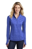 Women's Sport-Wick Stretch Reflective Heather 1/2-Zip Pullover True Royal Thumbnail