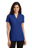 Women's Silk Touch Y-Neck Polo Shirt Royal Thumbnail