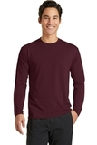 Long Sleeve Essential Blended Performance Tee Athletic Maroon Thumbnail