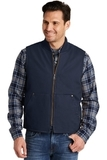 Washed Duck Cloth Vest Navy Thumbnail