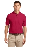 Tall Silk Touch Polo Shirt With Pocket Red Thumbnail