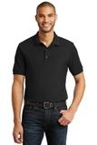 6.5-Ounce 100 Double Pique Cotton Sport Shirt Black Thumbnail