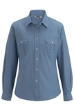 Chambray Roll-up-sleeve Shirt Chambray Light Blue Thumbnail