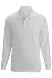Edwards Unisex Snag Proof Long Sleeve Polo White Thumbnail