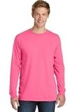 PigmentDyed Long Sleeve Tee Neon Pink Thumbnail