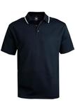 Men's Tipped Collar Dry-mesh Hi-performance Polo Navy Thumbnail
