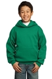 Youth Pullover Hooded Sweatshirt Kelly Green Thumbnail