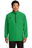 Nike Golf 1/2-zip Wind Shirt Lucky Green with Black Thumbnail