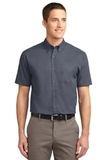 Short Sleeve Easy Care Shirt Steel Grey with Light Stone Thumbnail