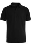 Men's Short Sleeve All Cotton Pique Polo Black Thumbnail
