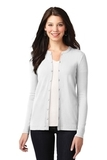 Women's Concept Stretch Button-Front Cardigan White Thumbnail