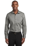 Red House Slim Fit Pinpoint Oxford Non-Iron Shirt Charcoal Thumbnail