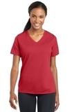 Women's Racermesh V-neck Tee True Red Thumbnail