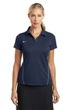 Women's Nike Golf Shirt Dri-FIT Sport Swoosh Pique Polo Midnight Navy Thumbnail