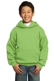 Youth Pullover Hooded Sweatshirt Lime Thumbnail