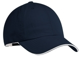 Sandwich Bill Cap Navy with White Thumbnail