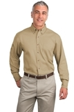 Tall Long Sleeve Twill Shirt Khaki Thumbnail