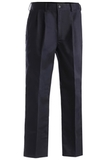 Men's Pleated Front Poly / Cotton Blended Chino Pant Navy Thumbnail