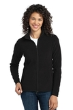 Women's Microfleece Jacket Black Thumbnail