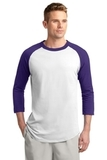 Colorblock Raglan Jersey White with Purple Thumbnail