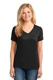 Women's 5.4-oz 100 Cotton V-neck T-shirt Jet Black Thumbnail